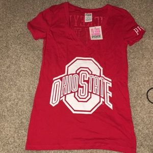 NWT VS PINK Ohio State Buckeyes V-neck shirt